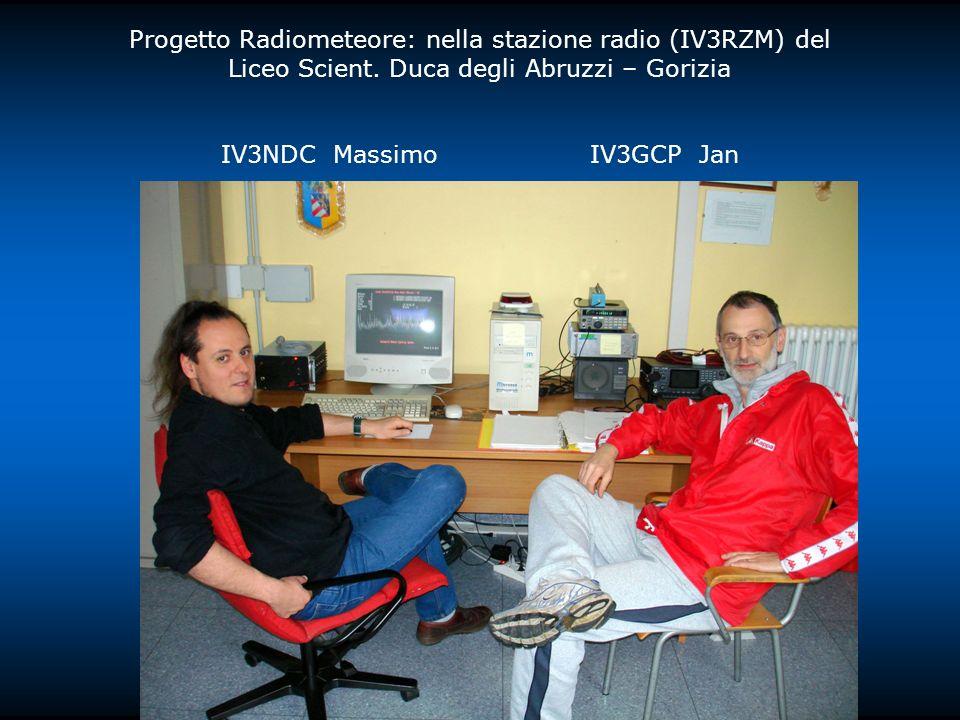 Progetto Radiometeore: nella stazione radio (IV3RZM) del Liceo Scient. Duca degli Abruzzi – Gorizia IV3NDC Massimo IV3GCP Jan