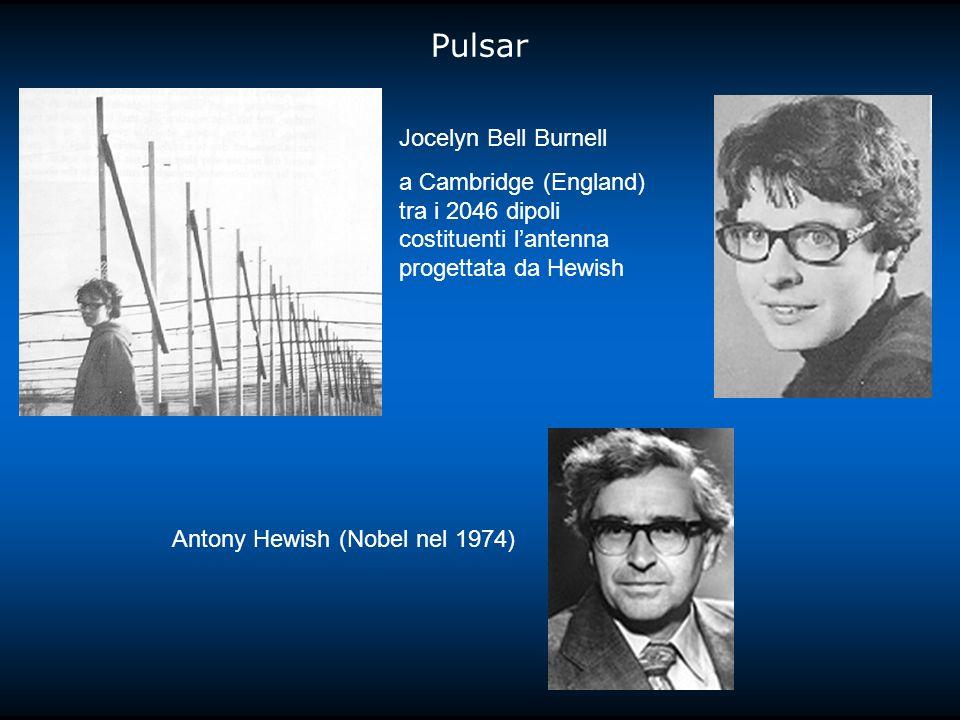 Pulsar Jocelyn Bell Burnell a Cambridge (England) tra i 2046 dipoli costituenti lantenna progettata da Hewish Antony Hewish (Nobel nel 1974)