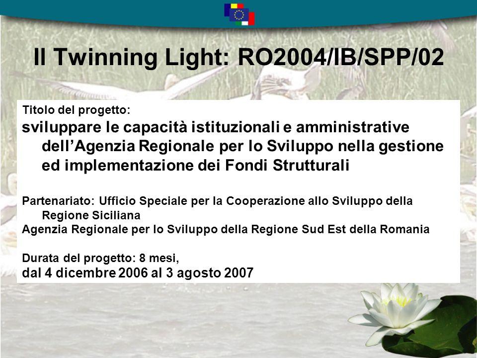 Il Piano Regionale di Sviluppo 2007 - 2013 Lindice del Piano Regionale di Sviluppo della Regione Sud Est della Romania 3.