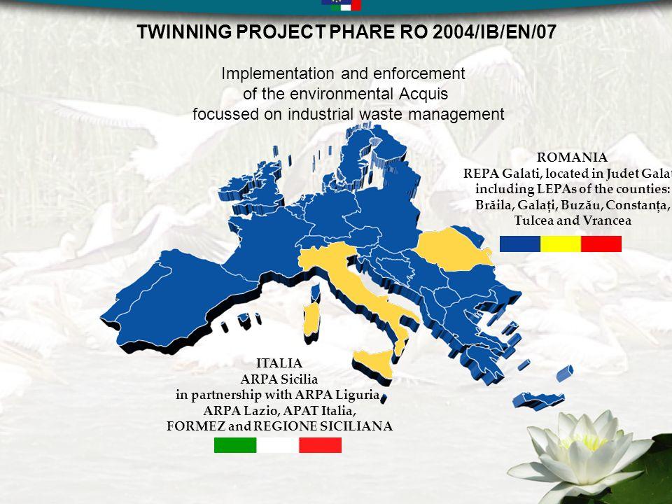 Il Twinning Light: RO2004/IB/SPP/02 Titolo del progetto: sviluppare le capacità istituzionali e amministrative dellAgenzia Regionale per lo Sviluppo nella gestione ed implementazione dei Fondi Strutturali Partenariato: Ufficio Speciale per la Cooperazione allo Sviluppo della Regione Siciliana Agenzia Regionale per lo Sviluppo della Regione Sud Est della Romania Durata del progetto: 8 mesi, dal 4 dicembre 2006 al 3 agosto 2007