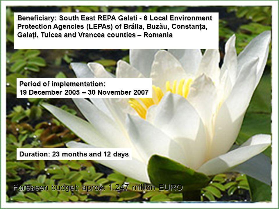 ROMANIA REPA Galati, located in Judet Galati, including LEPAs of the counties: Brăila, Galaţi, Buzău, Constanţa, Tulcea and Vrancea ITALIA ARPA Sicili