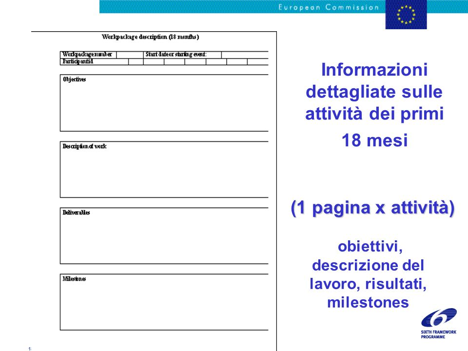 18/11/02 - 26 Genova presentation Informazioni dettagliate sulle attività dei primi 18 mesi obiettivi, descrizione del lavoro, risultati, milestones (