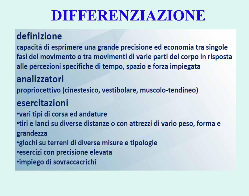 DIFFERENZIAZIONE