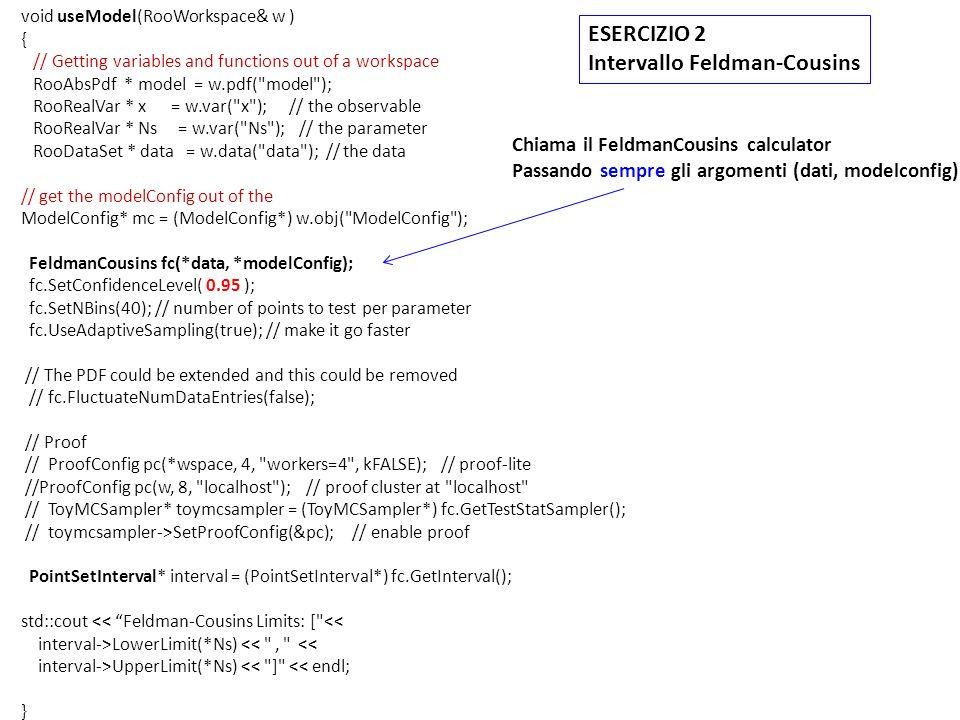 /57 Feldman Cousins Interval is [16.5, 85.5 ] ProfileLikeLihood Interval is [9.94475, 87.7451] Significance (SL2): 2.50742 95% C.L.