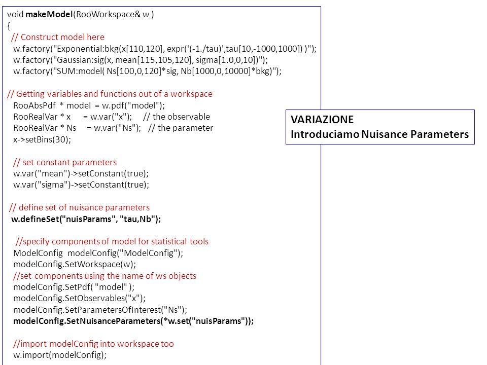 /57 Feldman Cousins Interval is [16.5, 100.5 ] ProfileLikeLihood Interval is [10.1149 - 106.863] Significance (SL2): 2.3894 95% C.L.