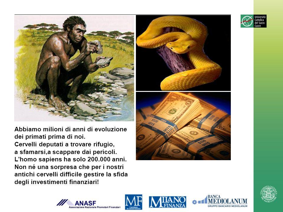 Abbiamo milioni di anni di evoluzione dei primati prima di noi. Cervelli deputati a trovare rifugio, a sfamarsi,a scappare dai pericoli. L'homo sapien