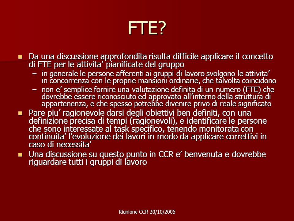 Riunione CCR 20/10/2005 FTE.