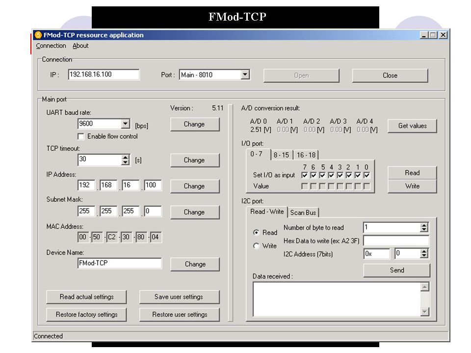 FMod TCP: applet Java