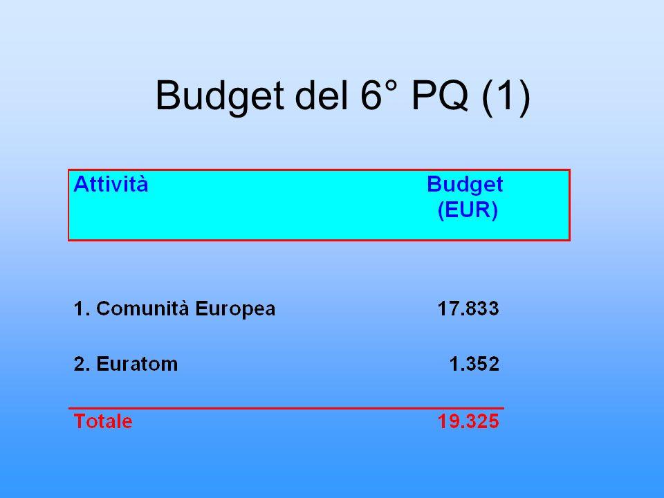 Budget del 6° PQ (2)