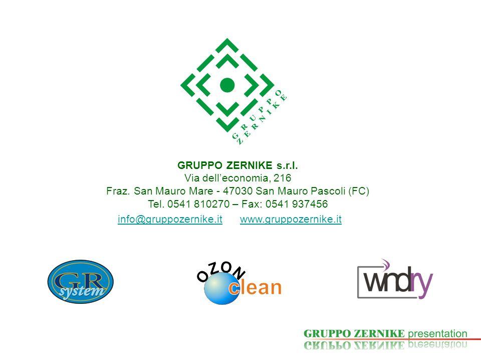 GRUPPO ZERNIKE s.r.l. Via delleconomia, 216 Fraz. San Mauro Mare - 47030 San Mauro Pascoli (FC) Tel. 0541 810270 – Fax: 0541 937456 info@gruppozernike