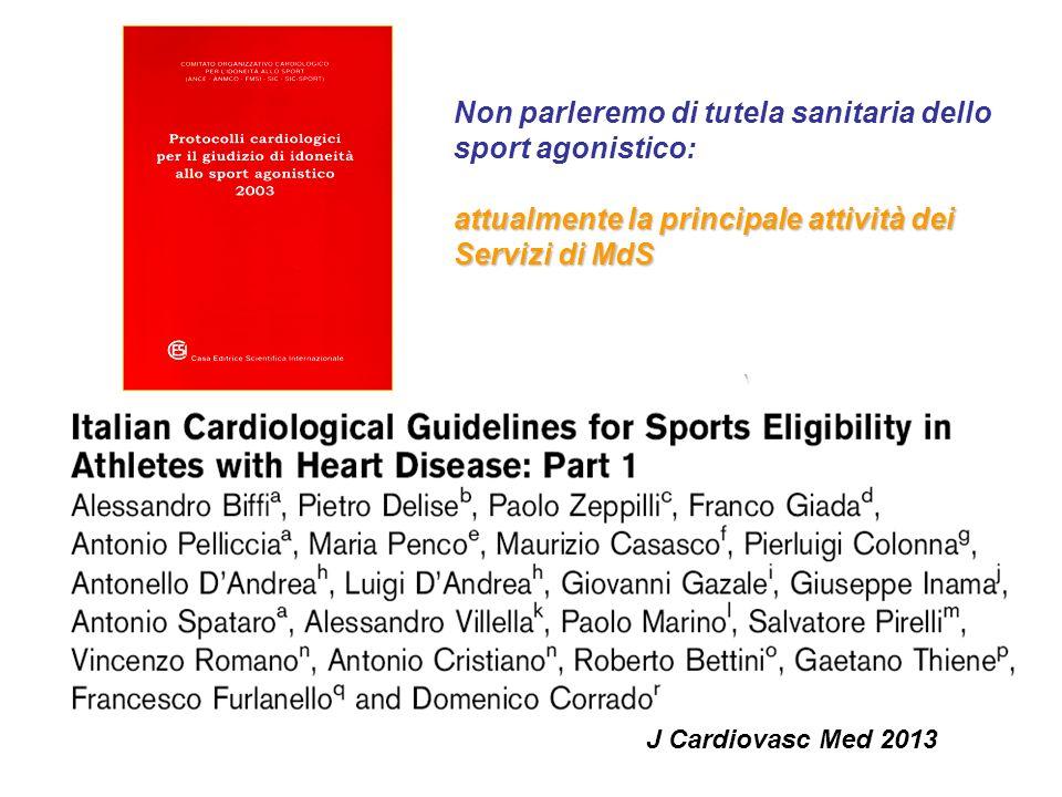 J Cardiovasc Med 2008 Promozione e prescrizione dellEF come strumento di prevenzione e terapia: nuova frontiera dei Servizi di MdS