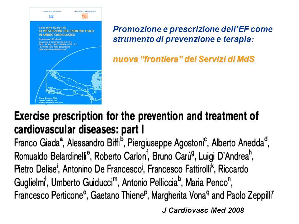 Somministrazione dellEsercizio in palestra Medica Controllo parametri vitali telemetria ECG lattacidemia, ecc.