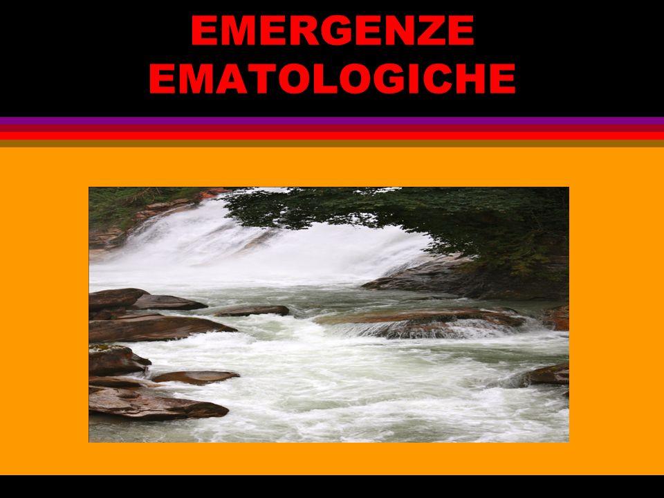 EMERGENZE EMATOLOGICHE