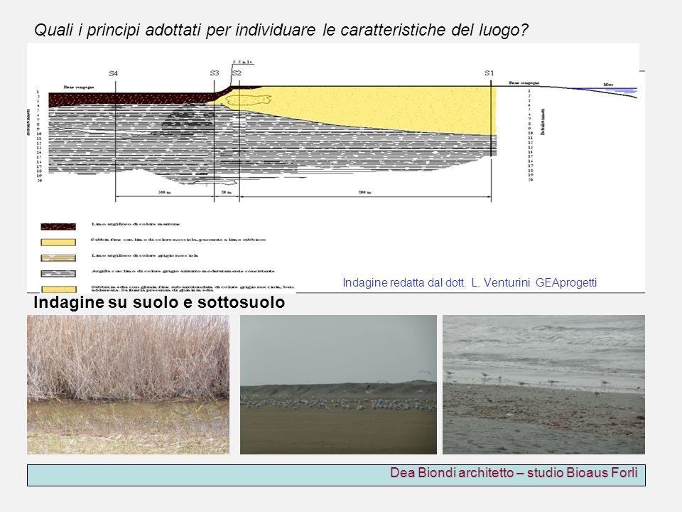 Dea Biondi architetto – studio Bioaus Forlì Quali i principi adottati per individuare le caratteristiche del luogo? Indagine redatta dal dott. L. Vent