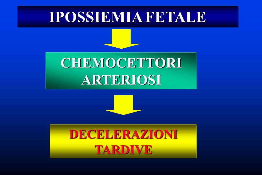 IPOSSIEMIA FETALE CHEMOCETTORI ARTERIOSI DECELERAZIONI TARDIVE
