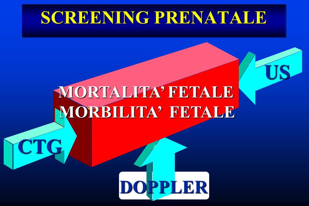 SCREENING PRENATALE MORTALITA FETALE MORTALITA FETALE MORBILITA FETALE MORBILITA FETALE DOPPLER US CTG