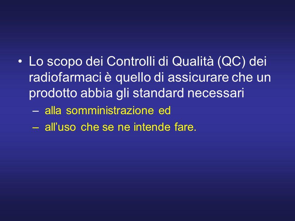 Lo scopo dei Controlli di Qualità (QC) dei radiofarmaci è quello di assicurare che un prodotto abbia gli standard necessari – alla somministrazione ed