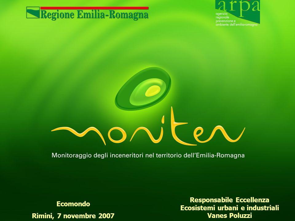 Ecomondo Rimini, 7 novembre 2007 Responsabile Eccellenza Ecosistemi urbani e industriali Vanes Poluzzi