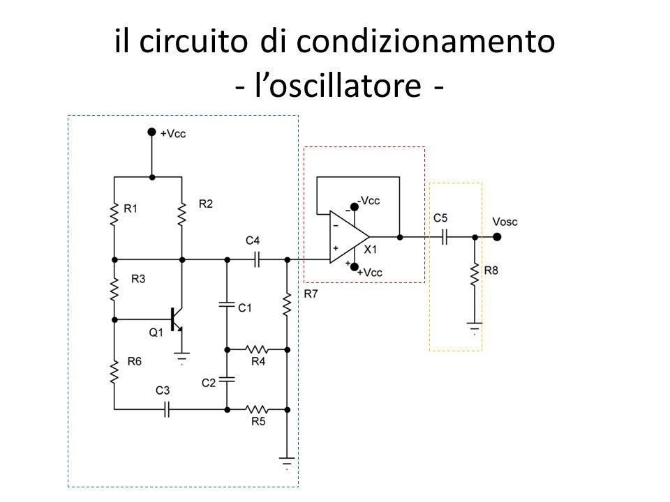 il circuito di condizionamento - loscillatore -