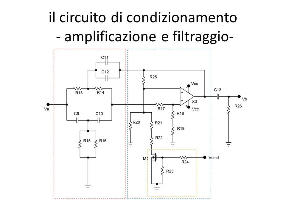 il circuito di condizionamento - amplificazione e filtraggio-