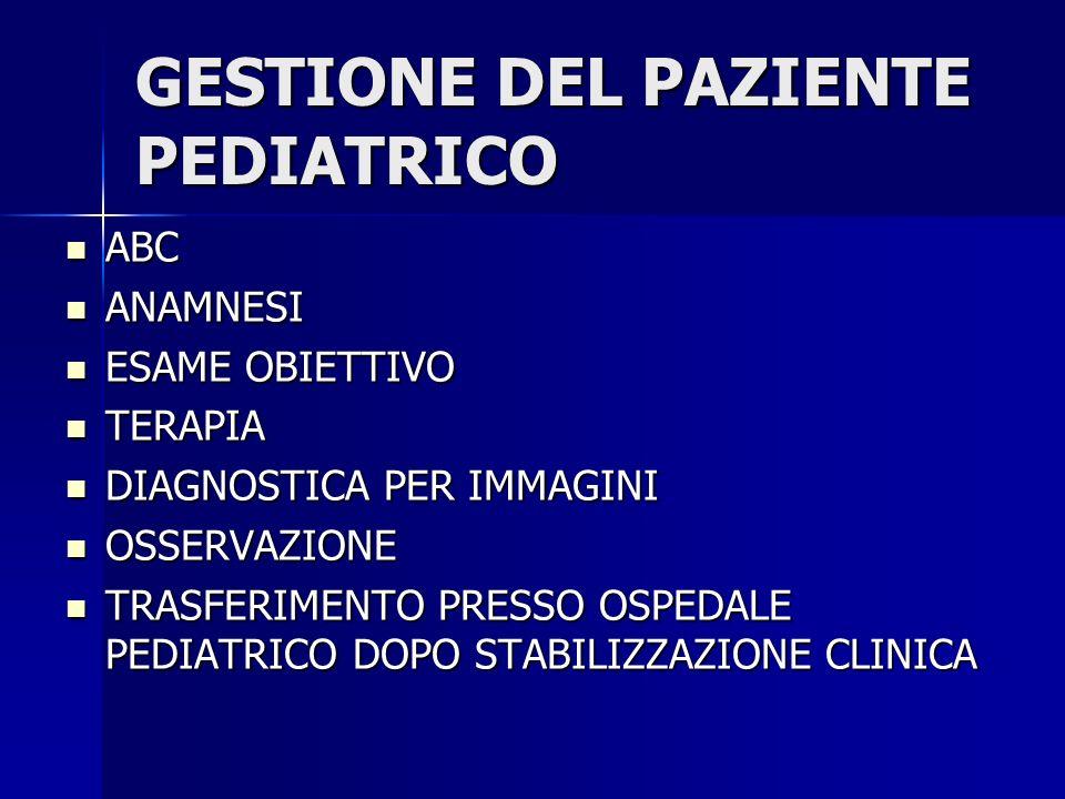 ACCESSI PEDIATRICI P.S.