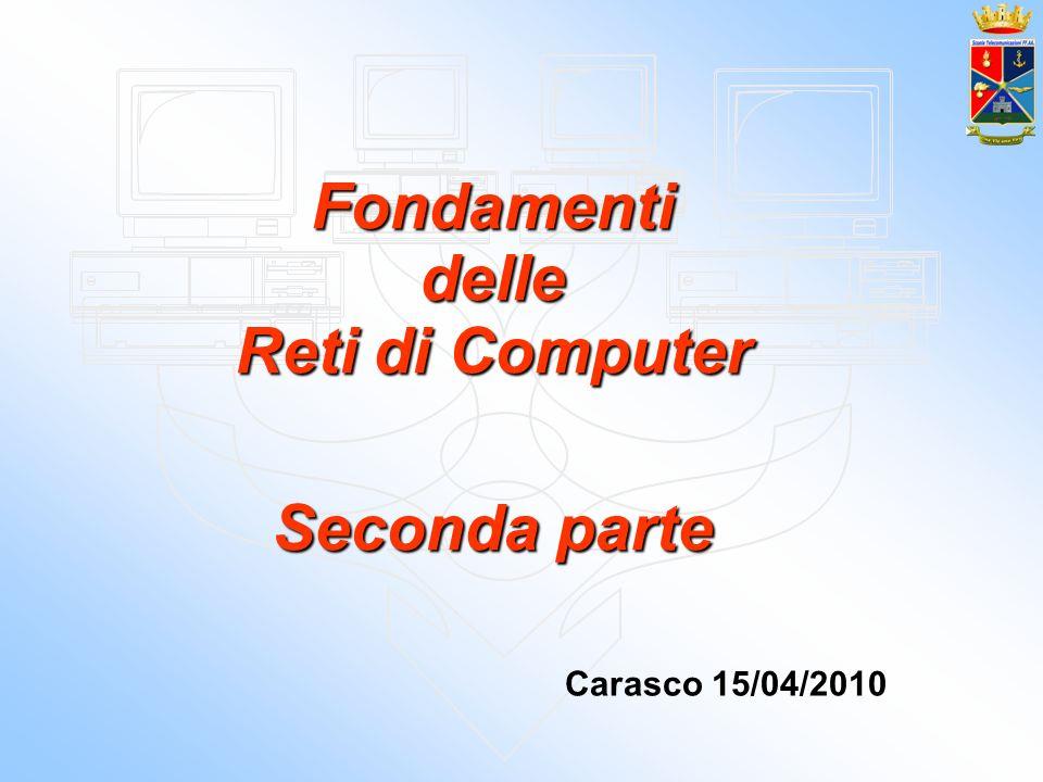 Fondamenti delle Reti di Computer Seconda parte Carasco 15/04/2010
