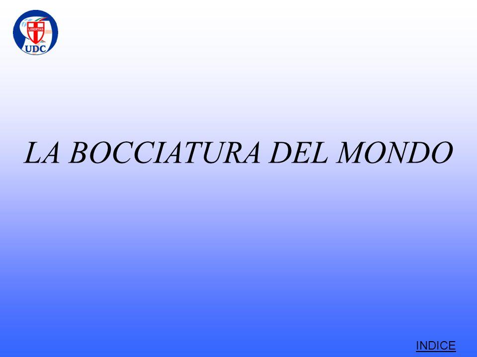 LA BOCCIATURA DEL MONDO INDICE