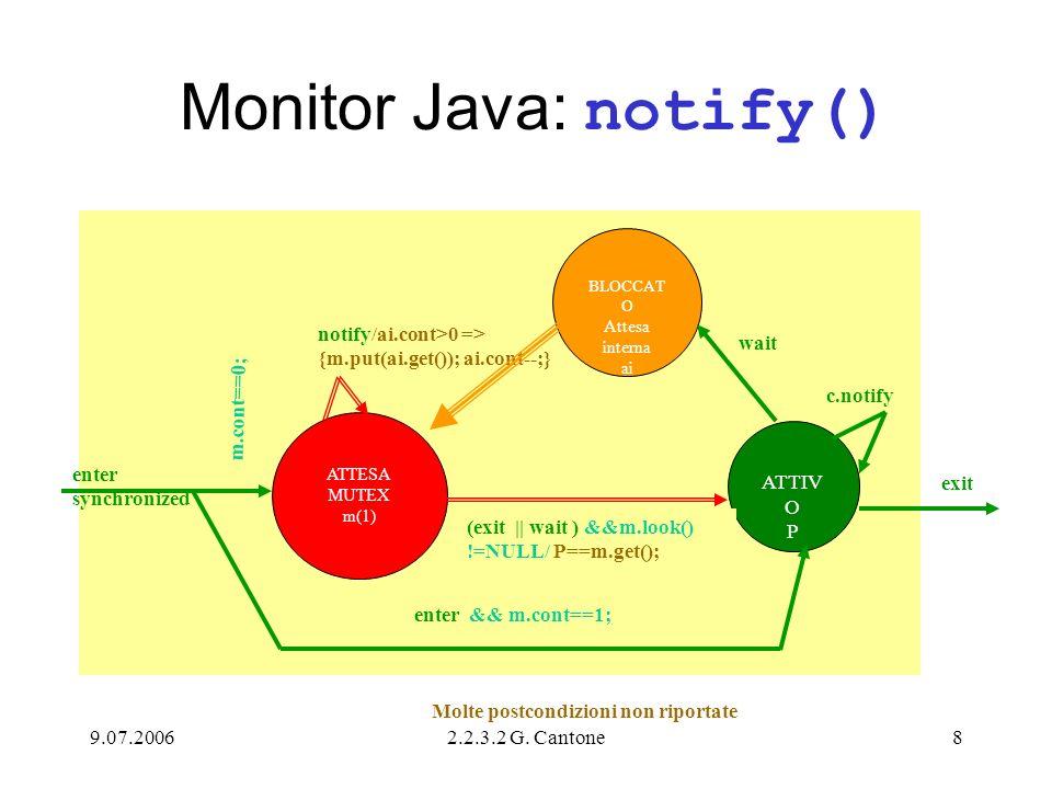 9.07.20062.2.3.2 G.Cantone9 Variante Monitor MRCC È una variante del precedente MRCC.