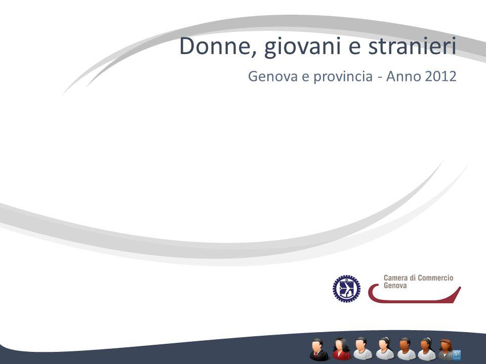 Donne, giovani e stranieri Genova e provincia - Anno 2012