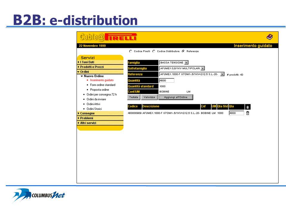 B2B : e-distribution