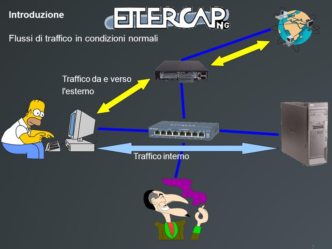 5 Flussi di traffico in condizioni normali Traffico da e verso l'esterno Traffico interno Introduzione