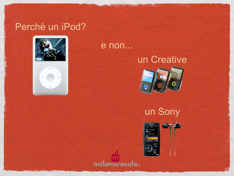 Perchè un iPod e non... un Creative un Sony