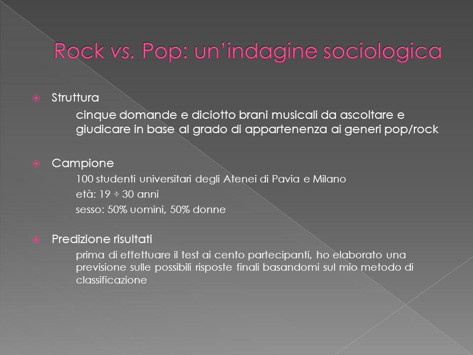 Rock ( Rocknroll) «luso del termine rock ha dei precedenti; usi iniziali riferiti al ballo, mentre il periodo 1965-1967 ne modificò il significato (non più solo musica da ballo)» «una sorta di rocknroll cresciuto e maturato, per differenziarlo dal pop preconfezionato che in breve tempo corruppe il rocknroll» Il termine rock «nelluso generale dal 1967 nuova era musicale innovativa lopposizione rock vs.