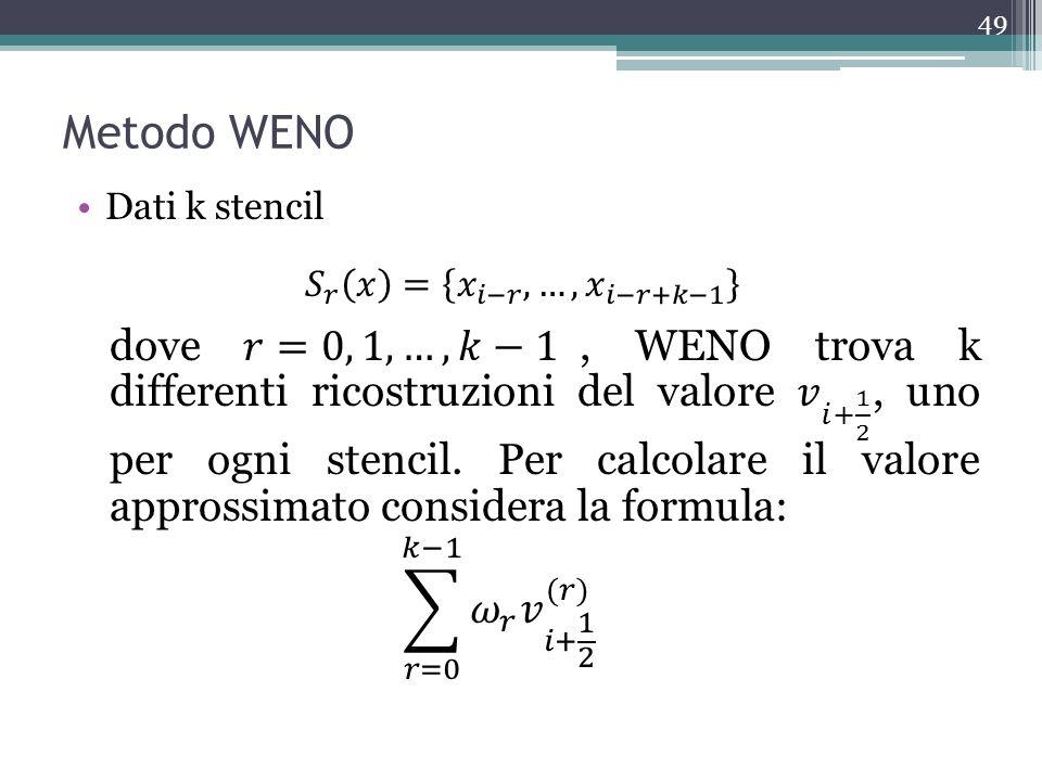 Metodo WENO 49