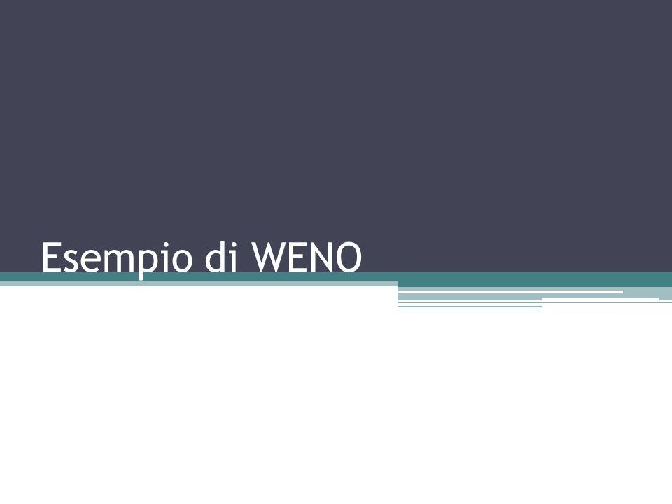 Esempio di WENO