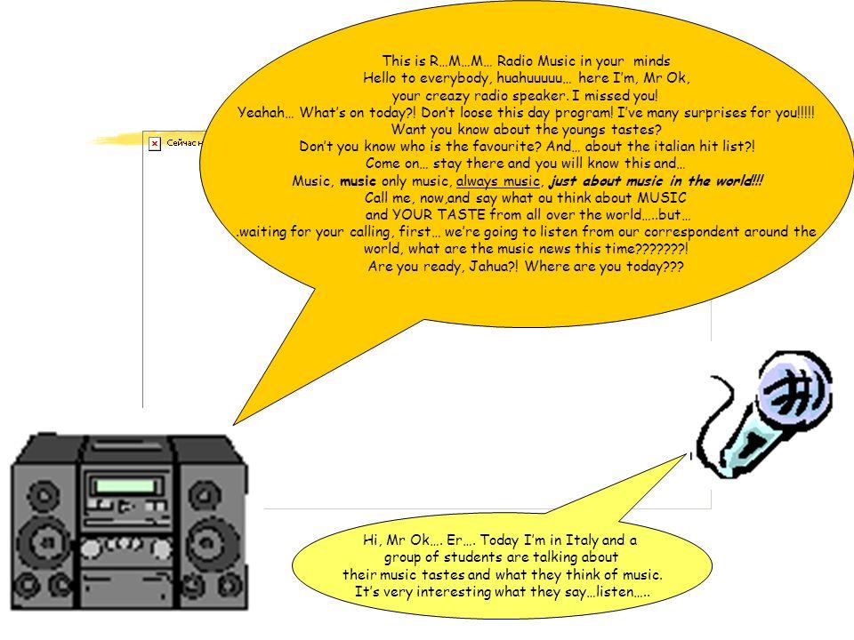 Ciao siamo Luca e Marco abbiamo condotto un sondaggio nel nostro istituto,lIPIA di Alife, e i brani che raggiungono la vetta della classifica sono: 1 Gigi DAgostino & Albertino - Super 2 Eiffel 65 - Back in time 3 Lady Violet - Calling your name