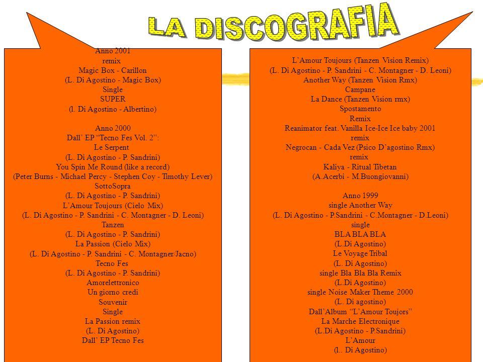 Anno 2001 remix Magic Box - Carillon (L.Di Agostino - Magic Box) Single SUPER (l.