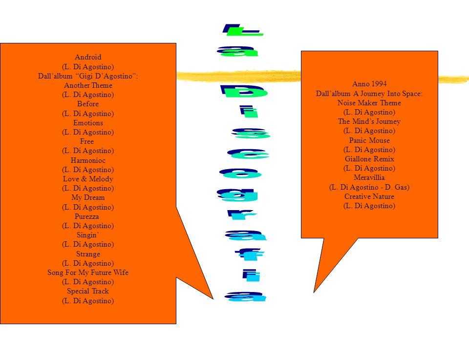 LAmour Toujours (L.Di Agostino - P.Sandrini - C.Montagner - D.Leoni) Tekno Jam (L.Di Agostino) The Way (T.Scalzo - Ed.