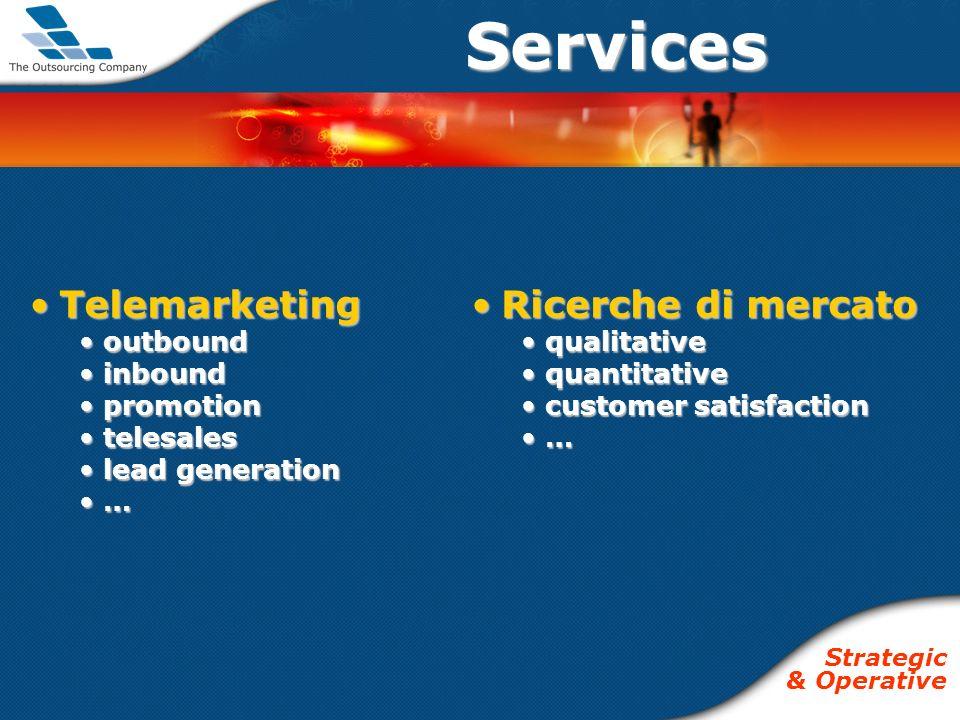 TelemarketingTelemarketing outbound outbound inbound inbound promotion promotion telesales telesales lead generation lead generation … …Services Ricer