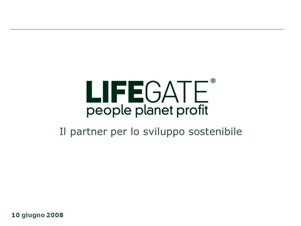Il partner per lo sviluppo sostenibile 10 giugno 2008