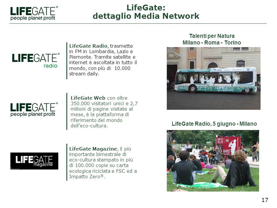 17 LifeGate Magazine, il più importante bimestrale di eco-cultura stampato in più di 100.000 copie su carta ecologica riciclata e FSC ed a Impatto Zero ®.