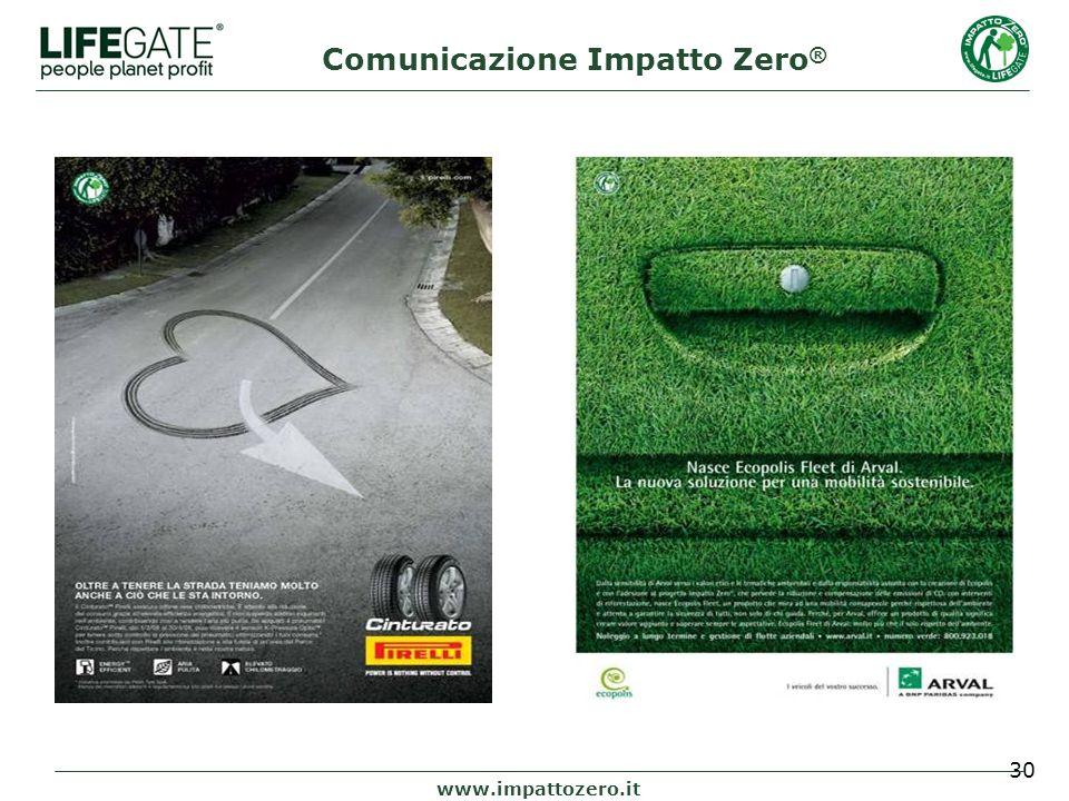 30 www.impattozero.it Comunicazione Impatto Zero ®