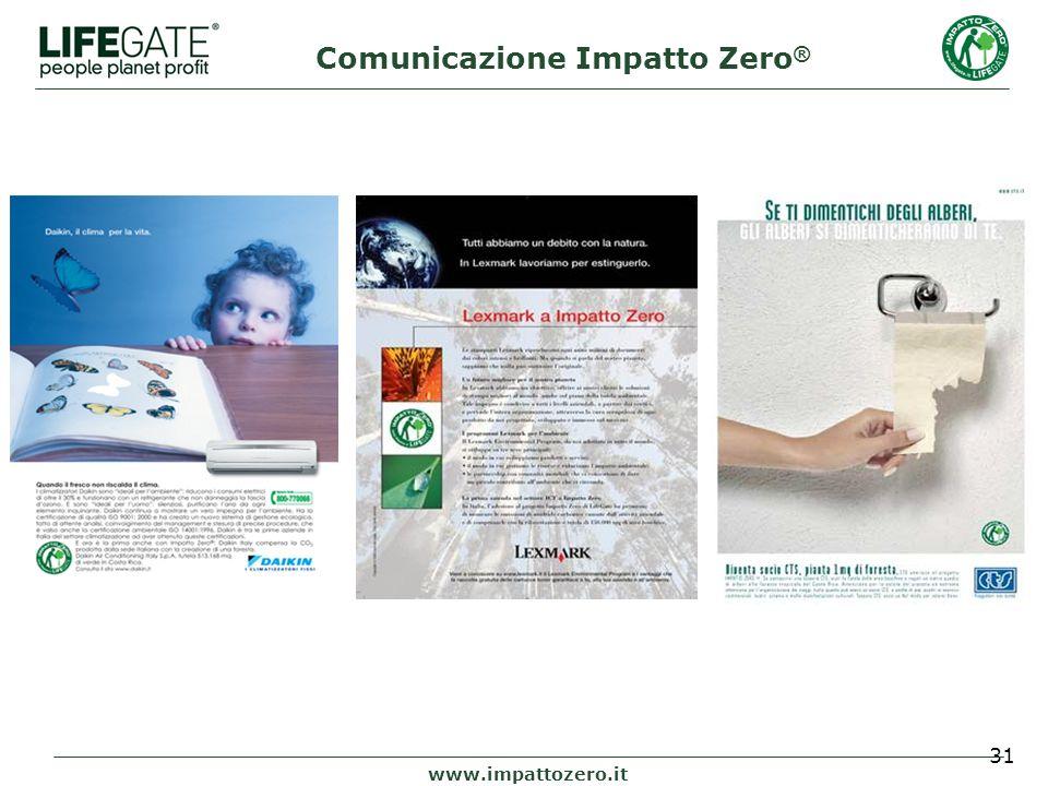 31 www.impattozero.it Comunicazione Impatto Zero ®