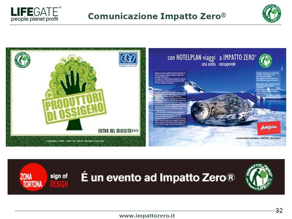 32 www.impattozero.it Comunicazione Impatto Zero ®