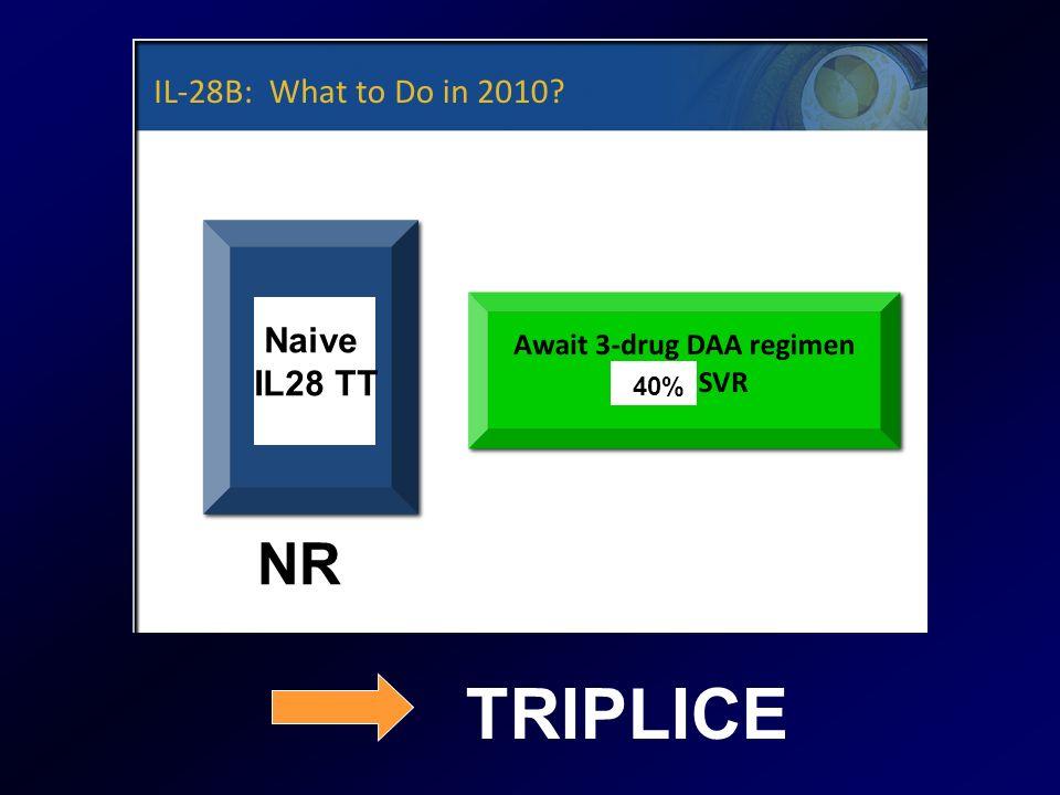 Naive IL28 TT NR TRIPLICE 40%