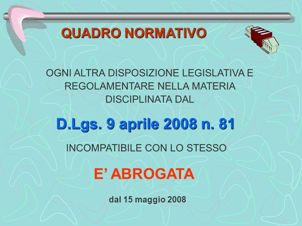 D.Lgs.9 aprile 2008 n. 81 Prima dellinizio dei lavori Notifica preliminare allegato XII art.