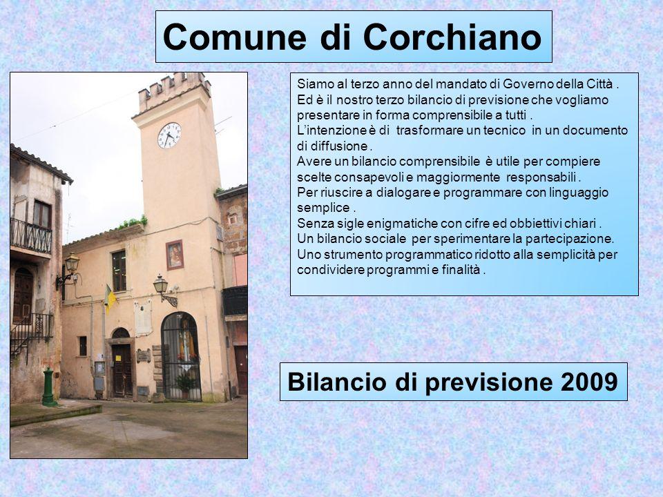 I nostri Euri... Bilancio di previsione 2009 del Comune di Corchiano