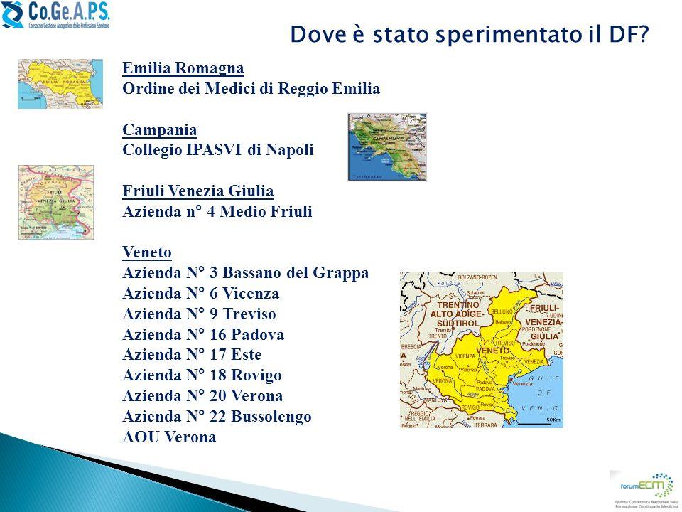 Emilia Romagna Ordine dei Medici di Reggio Emilia Campania Collegio IPASVI di Napoli Friuli Venezia Giulia Azienda n° 4 Medio Friuli Veneto Azienda N°