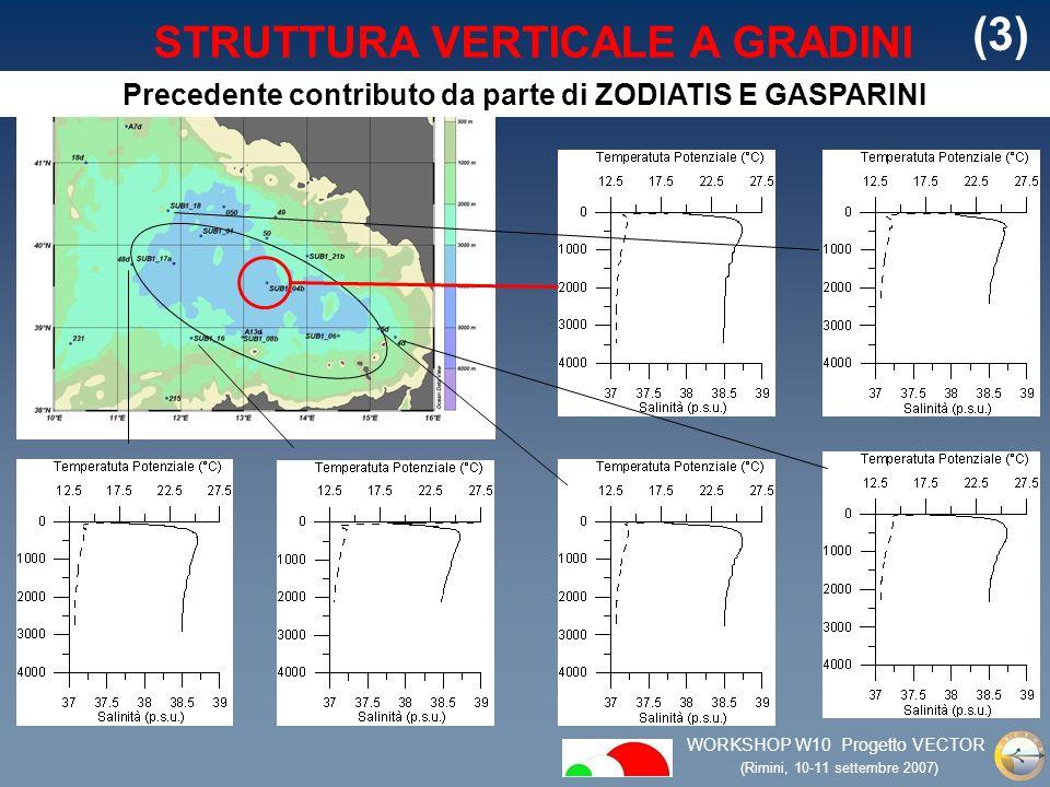 WORKSHOP W10 Progetto VECTOR (Rimini, 10-11 settembre 2007) STRUTTURA VERTICALE A GRADINI (3) Precedente contributo da parte di ZODIATIS E GASPARINI