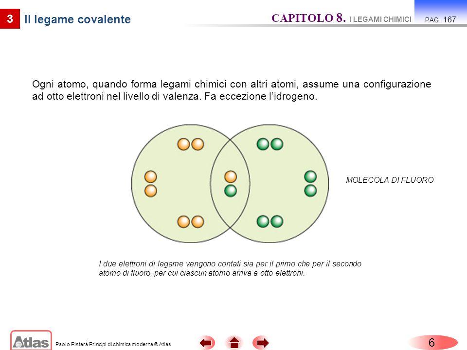 Paolo Pistarà Principi di chimica moderna © Atlas 7 3 Il legame covalente CAPITOLO 8.
